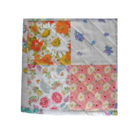 Retro speelkleed deken patchwork pastel