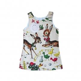 Ecru Bambi herjes jurkje maat 104