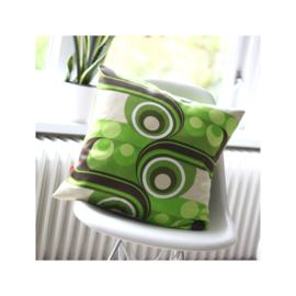 Kussenhoes groen grafisch retro vintage
