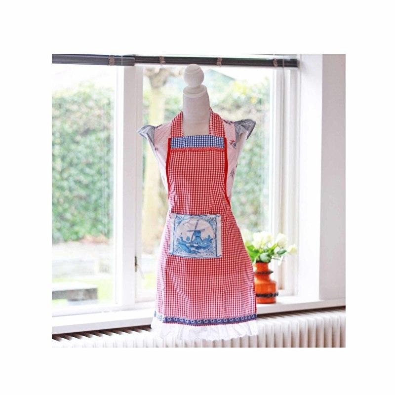 Keukenschort Delfts-blauw Holland handgemaakt