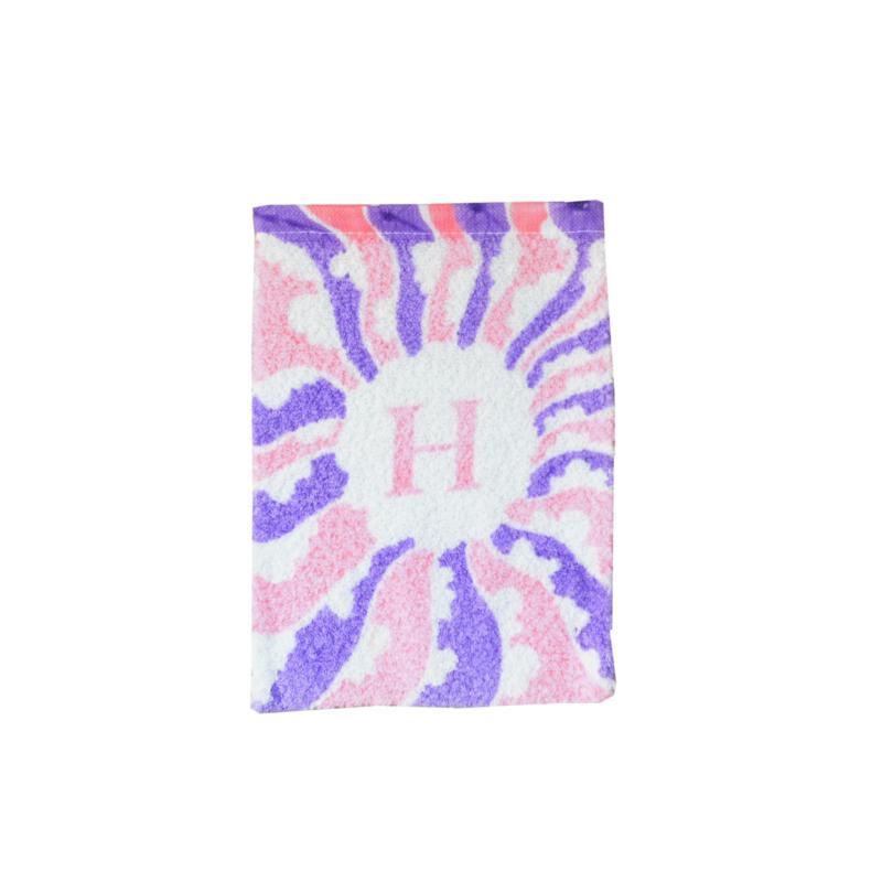 Washandje vintage retro letter H