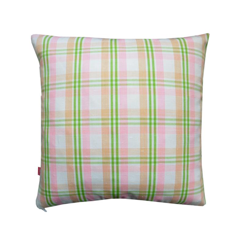 Kussenhoes retro vintage roze groen wit