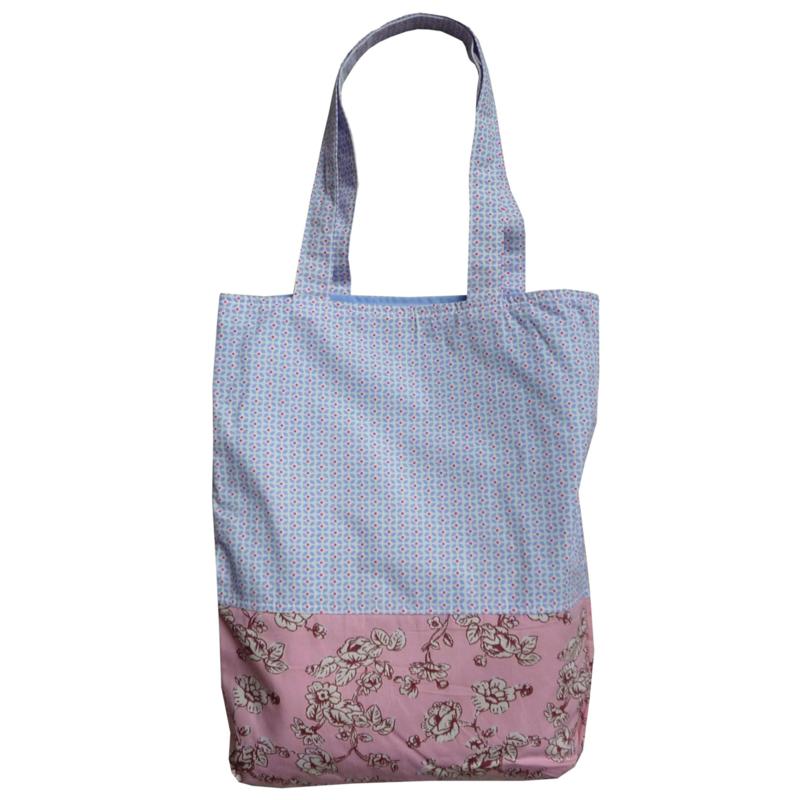 Tote bag Room seven pastel bloemen