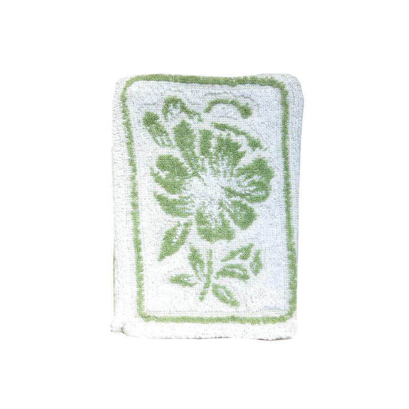 Washandje vintage retro groen wit