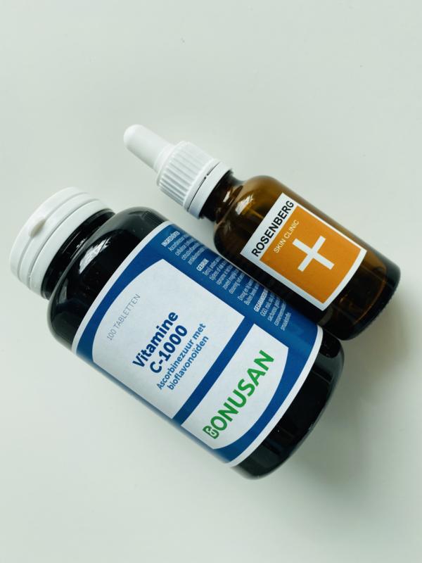 Vitamine C serum van Rosenberg Skin Clinic + vitamine C van Bonusan