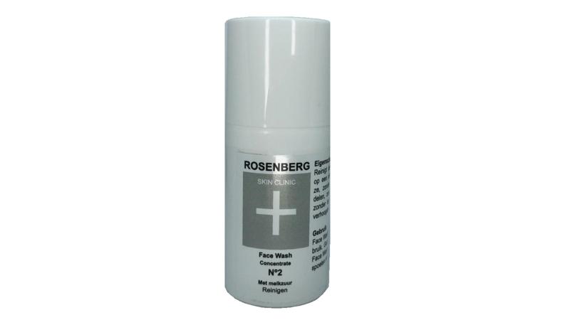 N2 Face Wash 30 ml  Rosenberg Skin Clinic® PH neutral met melkzuur voor huidverbetering