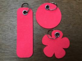 Vilten sleutelhanger neon roze
