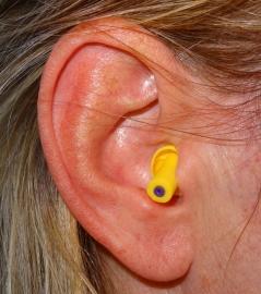 Høreværn - ørepropper Motorcykel (gul)