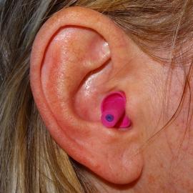 Gehoorbescherming / oordop motor (roze).