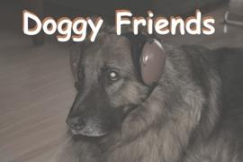 Protezione dell'udito per cane.