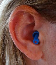 Høreværn - ørepropper til musik (blå).