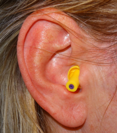 Formula One F1 Earplugs - Hearing protection (yellow).