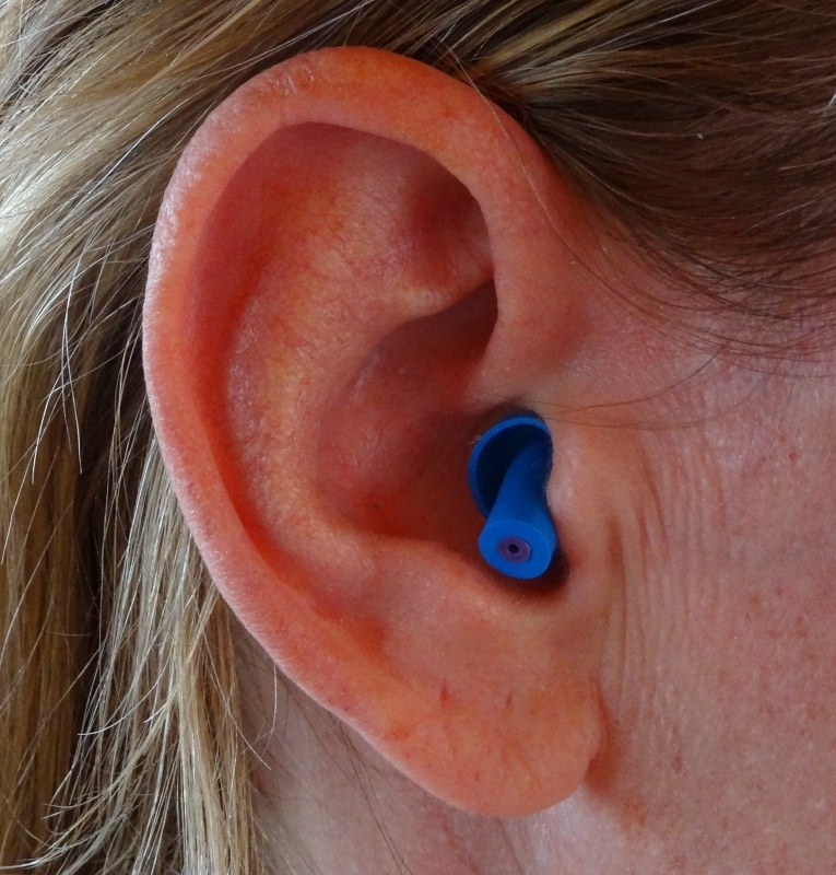 Protection des oreilles du motard (Bleu Marine).