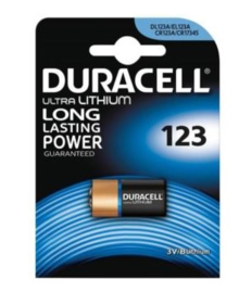 Duracell CR123a Ultro Lithium lomg lasting power