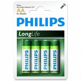 Philips LongLife  AA Penlite batterijen (4 stuks)