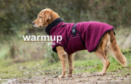 Warm Up honden Cape Pro fleece en badstof