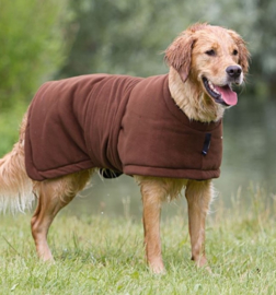 Warm up honden fleece cape / jas