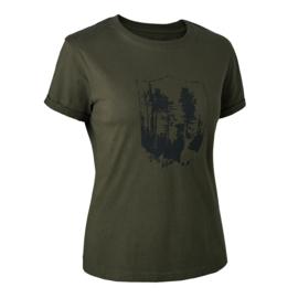 Deerhunter Lady T-shirt with shield dames t-shirt