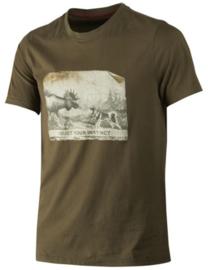 Härkila Odin Moose & Dog heren T-shirt maat 3XL