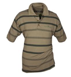 Hubertus polo shirt gestreept