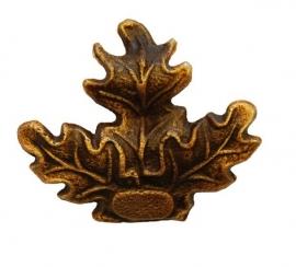 geweiplankversiering eikenblad groot bronskleurig