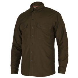 Deerhunter Reyburn Bamboo shirt groen overhemd