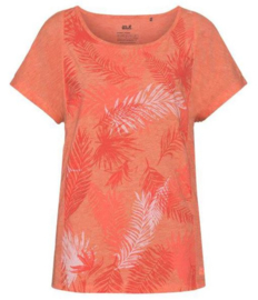 Jack Wolfskin Moro Palm dames t-shirt Hot Coral