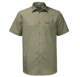 Jack Wolfskin El Dorado Khaki groen geruit heren overhemd
