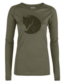 Fjällräven Abisko Trail dames T-shirt printed lange mouw