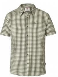 Fjällräven Abisko Seersucker Shirt SS Pine Green XL overhemd korte mouw