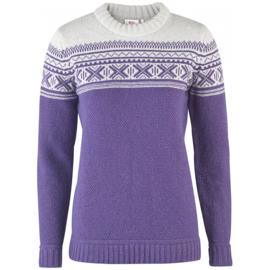 Fjällräven Övik Scandinavian Sweater Alpine Purple wollen damestrui L