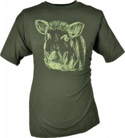 Hubertus T-shirt met Wild zwijn kop