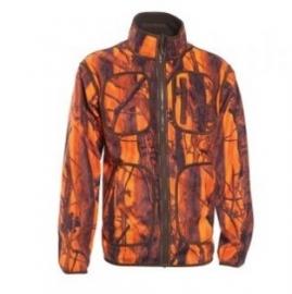 Deerhunter Gamekeeper reversible fleece jacket 5526 oranje camo naar groen