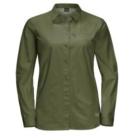 Jack Wolfskin Lakeside Roll-Up Shirt damesblouse