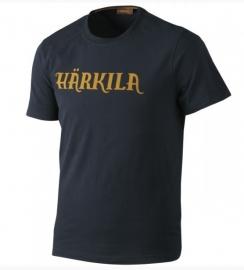 Härkila Logo t-shirt Blue Graphite maat 2XL