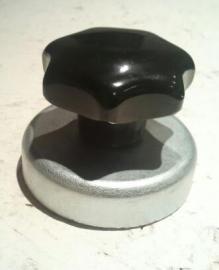 Magneet om staalhageltjes op te sporen