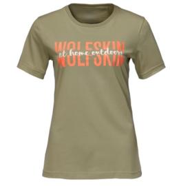 Jack Wolfskin Slogan dames t-shirt maat L