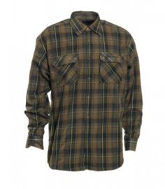 Deerhunter Grady gevoerd overhemd Groen maat 43/44