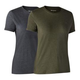 Deerhunter Ladies Basic 2-pack T-shirts