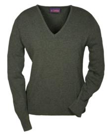 Hubertus V-hals dames pullover