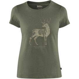 Fjällräven Deer Print dames T-shirt