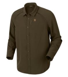 Härkila Herlet Tech Shirt Willow Green heren zomer overhemd maat L