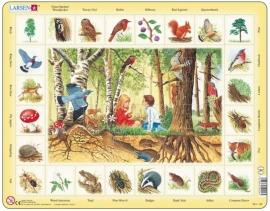 Puzzel met bosdieren
