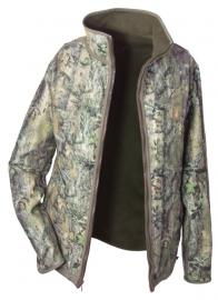 Hubertus reversible dames fleece jas