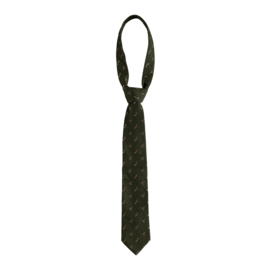 Deerhunter Tie zijden met wol stropdas groen met eenden