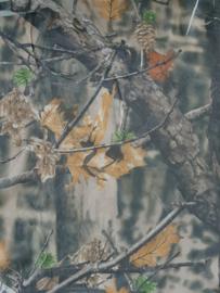 Nylon camouflagenet clear view bruin groen (per meter)
