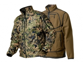 Härkila Q Fleece Optifade Camo reversible fleece jas maat 52