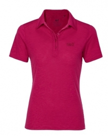 Jack Wolfskin Travel Dames Polo Azalea red