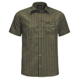 Jack Wolfskin El Dorado Dark Moss groen geruit heren overhemd