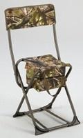 Camouflage stoeltje met rugleuning en opbergzak